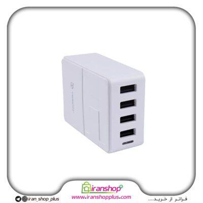 شارژر 4 پورت USB با قدرت 30 وات YESIDO